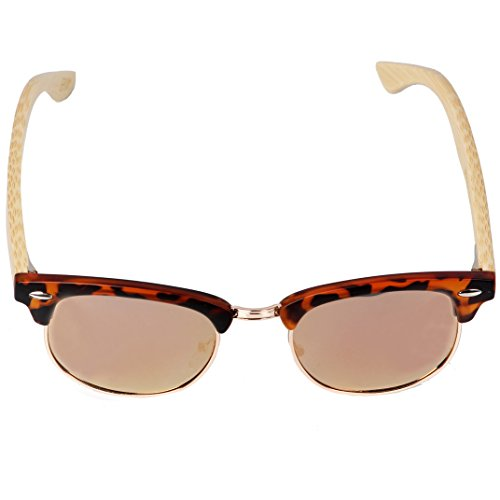 de brown única Brown bomboo bomboo Gafas Talla Hombre Sol Epoxy Bamboo Logo vYx5wTnzq