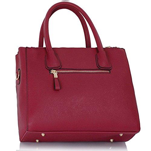 Desinger Large Hotselling Shopper Size Fashion Women's Trendy Tote Bag Handbags Ladies Burgundy CWS00195A Quality Bags z5BgBPn
