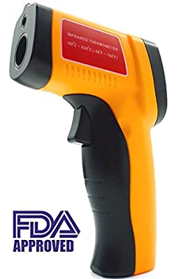 Infrared Thermometer For Cooking BBQ Hobbies Laser Thermometer Gun -58?~788? (-50??420?) with Adjustable Emissivity, Quick Temp Read Out