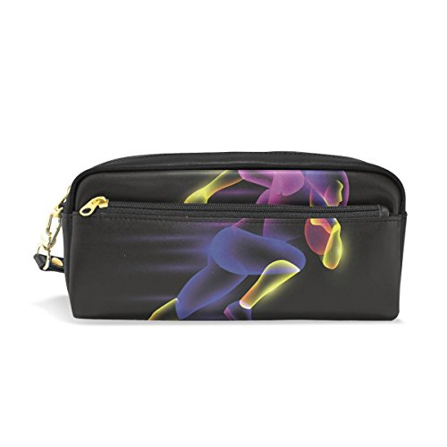 Pencil Case Abstract Football Player Large Capacity Pen Bag Stationery Pouch Stationary Case Makeup Cosmetic Bag