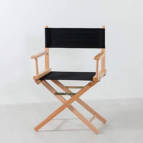 Lwjjby Silla Plegable Silla de Madera de Director Silla Plegable de Lona Silla Alta portatil Silla de Maquillaje Silla Plegable portatil (Color : C)
