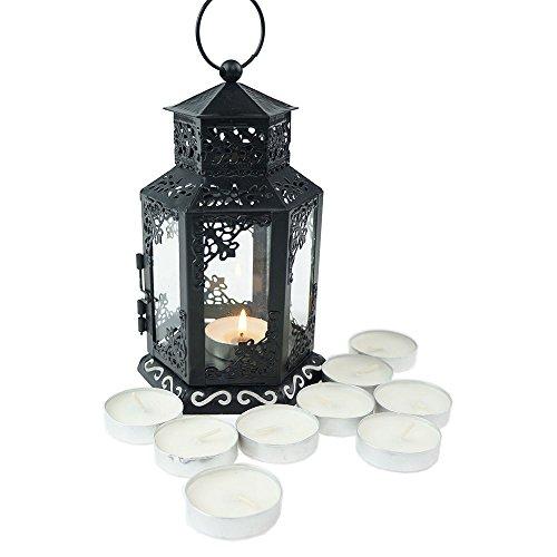 Tandi Glass Metal Candle Holder Lantern ( Mini ),Black