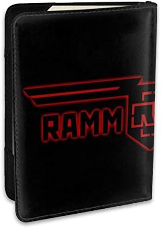 RAMMSTEIN ラムシュタイン パスポートケース メンズ 男女兼用 パスポートカバー パスポート用カバー パスポートバッグ ポーチ 6.5インチ高級PUレザー 三つのカードケース 家族 国内海外旅行用品 多機能