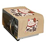 LUNA Japanese Style Microwave Oven Dustproof Cover for Home Decor (A12)