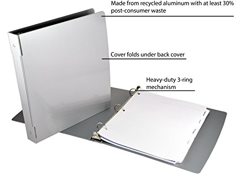 Saunders Recycled Aluminum Ring Binder, 1-Inches Spine, Letter Size, 8.5 x 12-Inches, 1 Binder (00603)