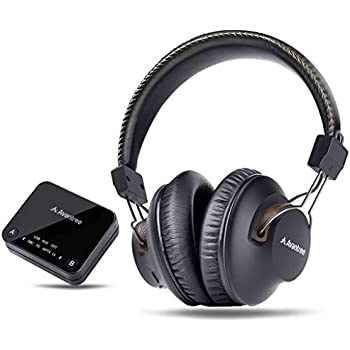 Avantree HT4189 Wireless Headphones for TV Watching & PC Gaming with Bluetooth Transmitter (Optical Digital Audio, 3.5mm Aux, RCA, PC USB), Plug & Play, ...