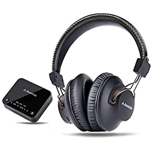 Avantree HT4189 Wireless Headphones for TV Watching with Bluetooth  Transmitter (Digital OPTICAL AUX RCA PC USB), Wireless Hearing Headset 40  Hours
