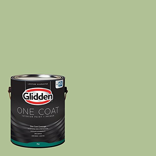 Glidden Interior Paint + Primer: Green Interior Paint /Harmonious, One Coat, Flat, 1 - Paint 01 Flat Interior