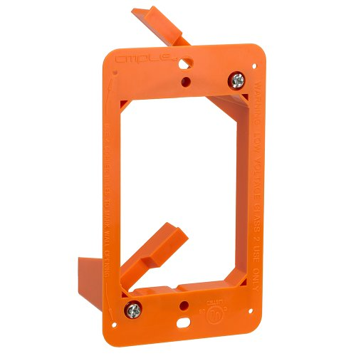 Cmple - Low Voltage 1 Gang Bracket Mount Single Multipurpose DryWall Mounting Wall Plate from Cmple
