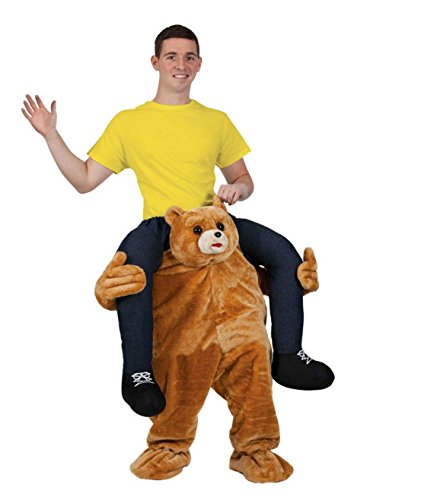 Ride On Me Bear Stuffed Stag Mascot Carry Piggy Back Fancy Dress Costume (Ride A Unicorn Costume)