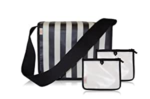 xo(eco) by BlueAvocado Cafe Tote Kit with Cafe Tote, Black/Cream