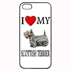 Custom Scottish Terrier Scottie I Love My Dog Photo iPhone 5 5S Case Cover Hard Shell Back