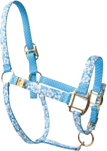 Red Haute Horse IFB1203A High Fashion Horse Horse Halter, Island Floral Blue