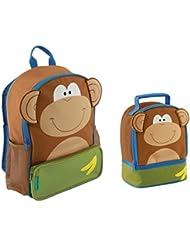 Stephen Joseph Boys Sidekick Monkey Backpack and Lunch Pal - Kids Bags