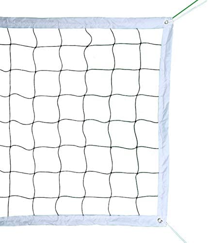 Professional Volleyball Net with Aircraft Steel Cable (32 FT x 3 FT) -Volleyball Replacement Net for Outdoor | Indoor Sports Backyard Schoolyard Pool Beach Portable Outdoor Volleyball Net