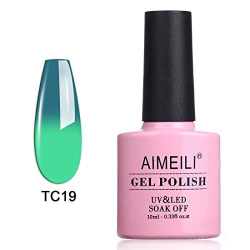 AIMEILI Soak Off UV LED Temperature Color Changing Chameleon Gel Nail Polish - Dryades (TC19) -