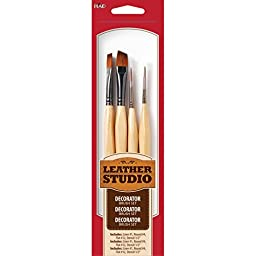 Leather Studio Leather Decorative Brush Set (2-Ounce), 71405