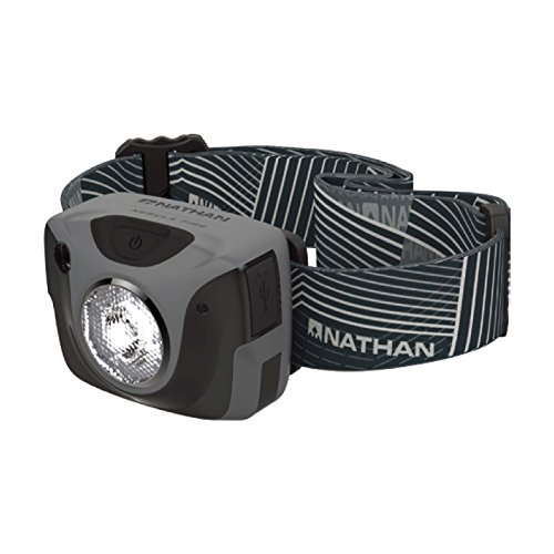 Nathan Nebula Fire Runner's Headlamp, Steel Grey Rio Red ()