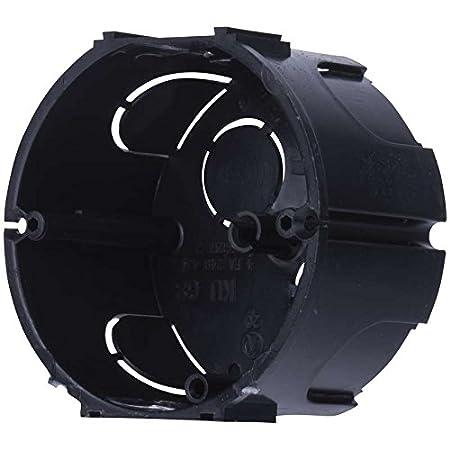 10x Caja de Registro Electrico Empotrar Pladur Circular Tapa ABS Negra: Amazon.es: Electrónica