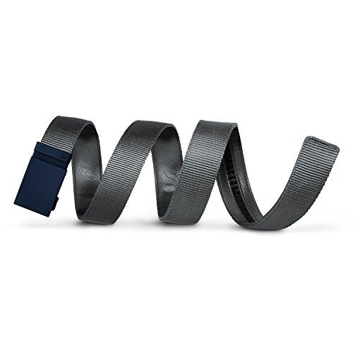Mission Belt Men's Ratchet Belt - Tactical - Matte Blue Buckle/Gray Nylon Strap, Extra Large (39-42)