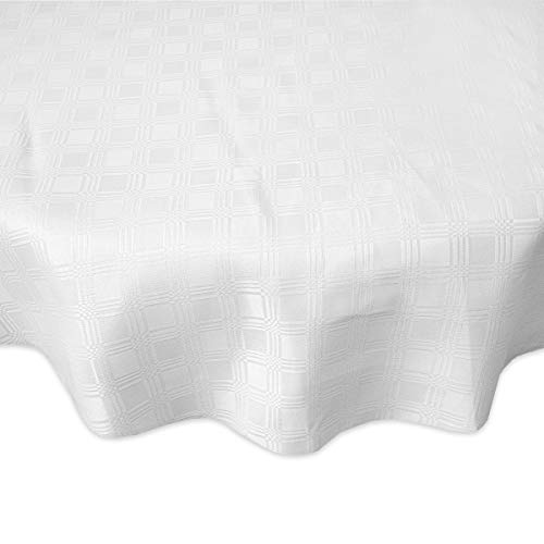 ern Spill Proof Fabric Tablecloth - 100% Polyester Geometric Pattern Machine Washable - Good All Seasons Sizes (52