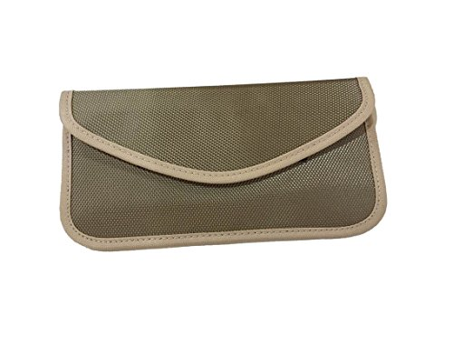 Anti-radiation Bag Pouch Radiation Interferen Shield Bag for iphone Cell Phone No Singal Shielding Bag (khaki)