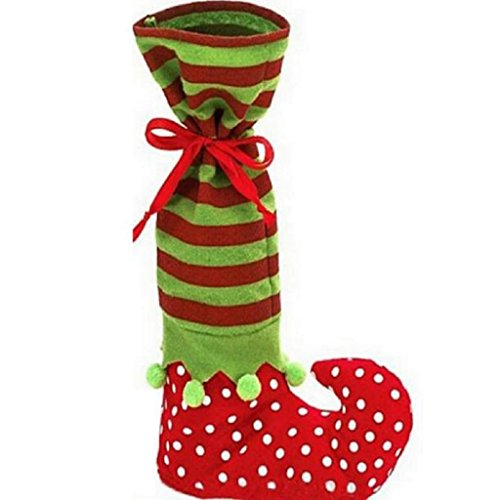 [LUNIWEI Merry Christmas Socks Elves Candy Bags Christmas Gift Bags] (Childrens Santas Helper Costume)