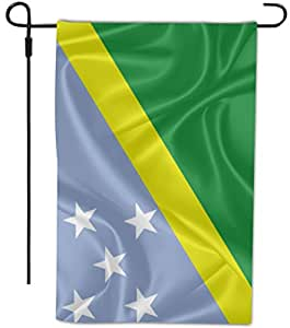 Rikki Knight Solomon Islands Flag Design Decorative House Or Garden Full Bleed Flag, 12 By 18-inch