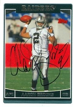 Autograph Warehouse 97277 Aaron Brooks Autographed Football Card Oakland Raiders 2006 Topps No. Oak11