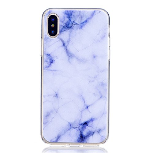 iphone 8 Custodia , Leiai Moda Marmo Silicone Morbido TPU Cover Case Custodia per Apple iphone 8