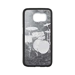 Samsung Galaxy S6 Cell Phone Case Black Faded Drumset SU4359740