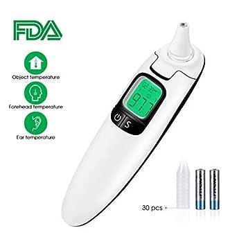 TOPELEK Termómetro Infrarrojo para Frente y Orejas,CE,FDA ...