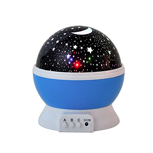 BiBang®Sun And Star Lighting Lamp 4 LED Bead 360 Degree Romantic Room  Rotating Cosmos Star Projector With 4.9 FT USB Cable, Light Lamp Starry  Moon Sky Night ...