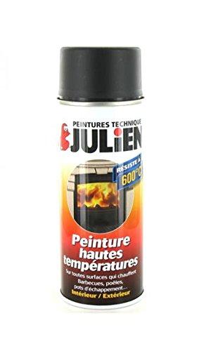 Peinture aé rosol Julien hautes tempé ratures noir 400ml