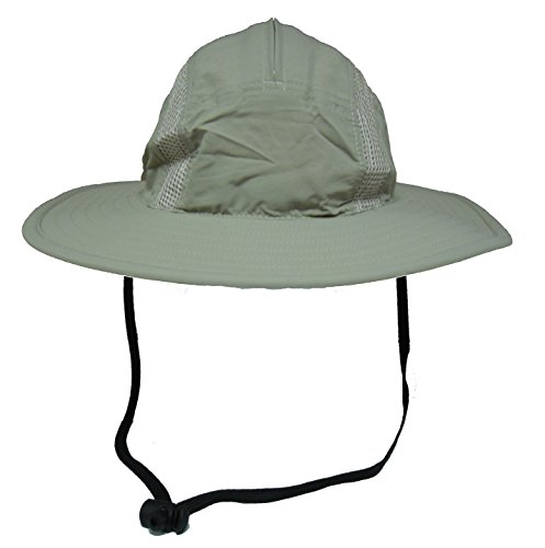 Unisex Outdoor Sun Bucket Boonie hat With Durable Mesh Lining and Hidden Stowable Neck Flap - 50 UPF-UV Sun Protection (Burgundy Felt Bonnet)