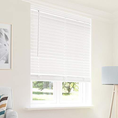 (CHICOLOGY Cordless 2-in Faux Wood Blinds 36