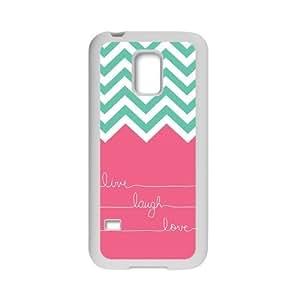 Live Laugh Love Chevron Design TPU Protective Case Slim Fit for SamSung Galaxy S5 Mini