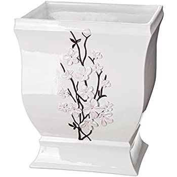 "Amazon.com: Quilted Mirror Bathroom Trash Can (8.1"" x 7 x 9.8 ..."