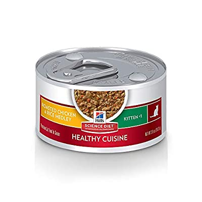 Cat Food Hill's Science Diet Wet Cat Food, Kitten, Healthy Cuisine, Roasted Chicken & Rice Recipe,  [tag]