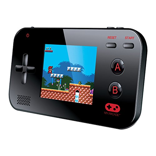 My Arcade Gamer V Portable Gaming System - 220 Built-In Retro Style Games and 2.4 LCD Screen  Black
