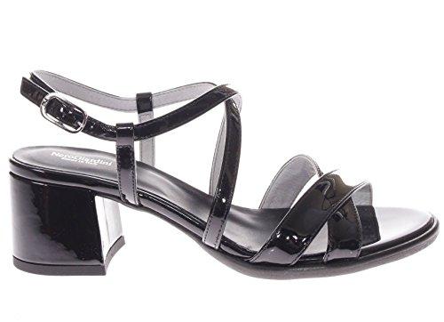 Incrociate Vernice Nero Fasce Sandalo in Donna Giardini Nero wOaqFAx