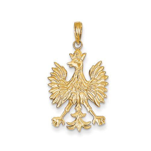14k Yellow Gold Polish Eagle Pendant (14k Polish Gold Yellow)