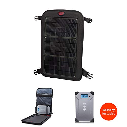 Voltaic Systems Fuse 10 Watt Rapid Solar Charger for Laptops | Includes Voltaic V88 Battery Pack (PowerBank) and 2 Year Warranty | Powers Laptops Iner cluding MacBook, Phones, USB Devices and More - Charcoal ()