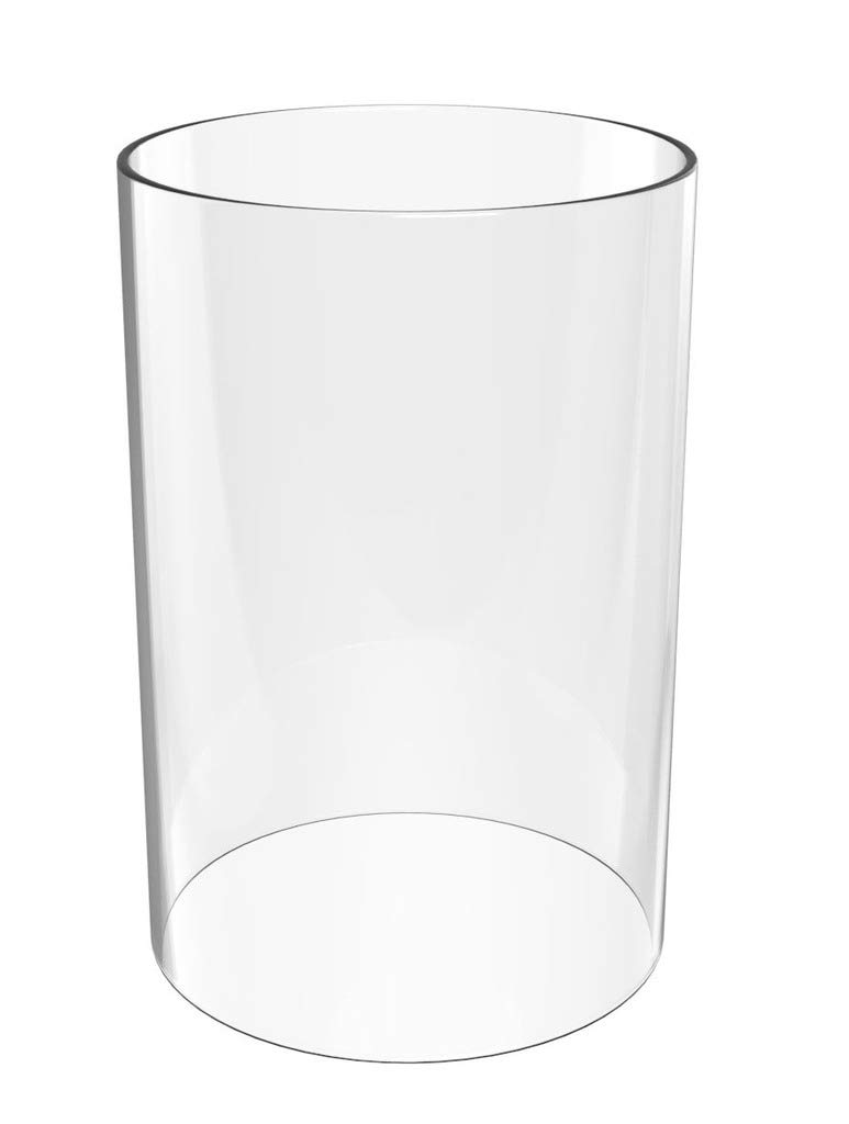 Amayan Glasses Holder- Glass Chimney Height 13'' Diameter 4'' -for Candle Open Ended Clear Candle Holders (Multiple Specifications)