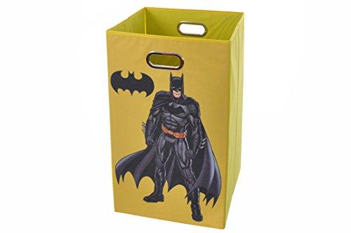 Batman Folding Laundry Basket, Yellow