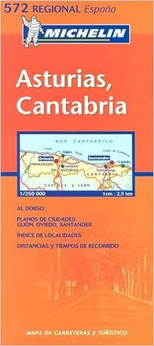 Michelin Map 572 Regional Spain Asturias Cantabria Amazoncouk
