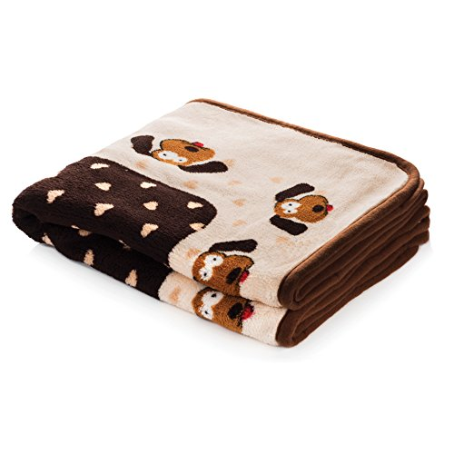 SmartPetLove - Snuggle Blanket for Pets, Brown Pattern by Smart Pet Love
