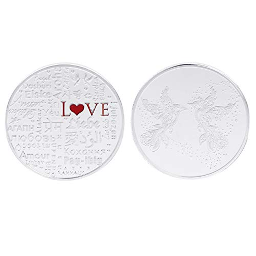 Birds Medallions (EHOO Love Birds Couple Flying Collection Coin - Collector's Medallion - Jewelry Quality by Symbol Arts (Silver))
