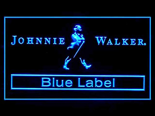 Johnnie Walker Whiskey Blue Label Bar Led Light Sign (Johnnie Walker Whisky Blue Label)