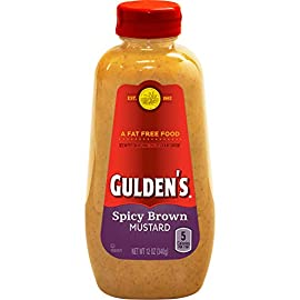 Gulden's Spicy Brown Mustard, 12 Oz 1 Gulden's spicy brown mustard Twelve ounce bottle